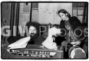 Jerry Garcia and Bob Weir backstage at the Fillmore East, Feb. 11, 1970