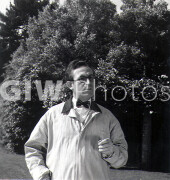 The Milky Way -  Behind the scenes- Harold Lloyd ouside in coat
