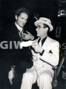 The Milky Way -  Behind the scenes- Harold Lloyd shaking hands with man in arm cast