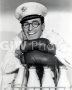 The Milky Way -  PUB Harold Lloyd headshot, with milk and gloves, smiling