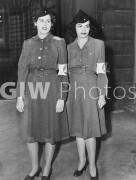 Maureen Sullivan and Shirley Conn in AWVS uniforms