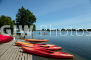 Line up of canoes