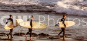Surfers in Montecito