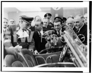 Goering and Goebbels looking at Mercedes