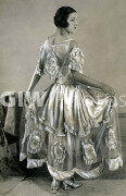 Fashion 1920s - Evening Gown - March 1923Young girls frock with medallions of hand painted roses.