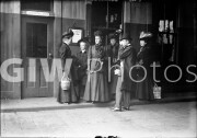 New York City. Mrs. Louise Whitfield Carnegie and others at railroad station.