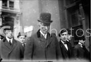 New York City. Novermber 18, 1908. John D. Rockefeller with others.