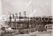 New York City. November 20, 1908. Lusitania docking at new Hudson River piers.