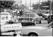 June 15, 1979. Long lines of cars at a gas station waiting for fuel.
