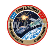 February 27, 1975). The American crew insignia of the joint United States-USSR Apollo-Soyuz Test Project (ASTP)