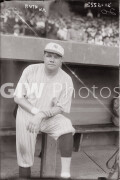 New York City. 1921. Babe Ruth in front of dugout.