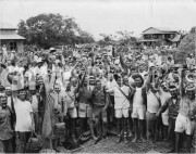 1945. American Prisoners of war in the Pacific Theater.