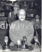 Manila, Philippines. November 24, 1948. Tojo on trial at the Japanese War Crimes Trials. Tojo, age 64, was Former