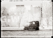 New York City. 1910s. Union Square after snow storm.